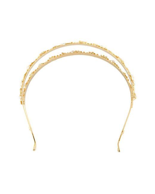 lyst rosantica fata pearl headband in metallic. Black Bedroom Furniture Sets. Home Design Ideas
