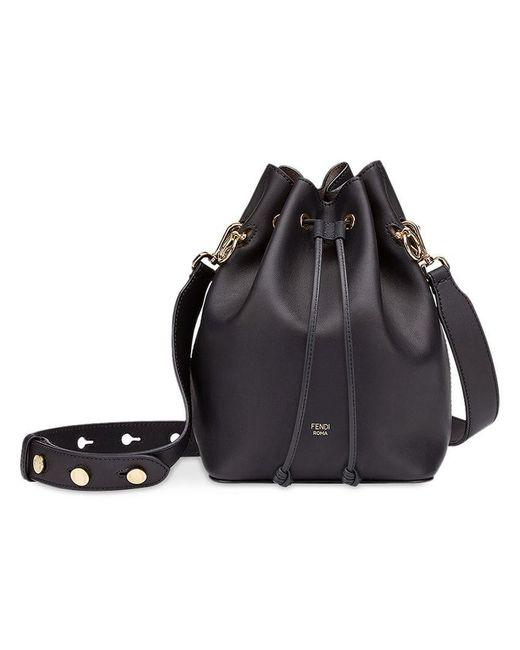 bda6a0257eba Fendi Black Mon Tresor Bucket Bag in Black - Save 4% - Lyst