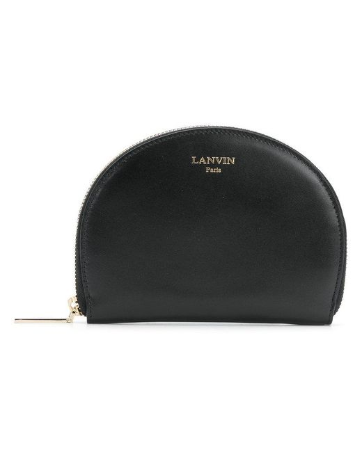 Lanvin - Black Half Moon Wallet - Lyst