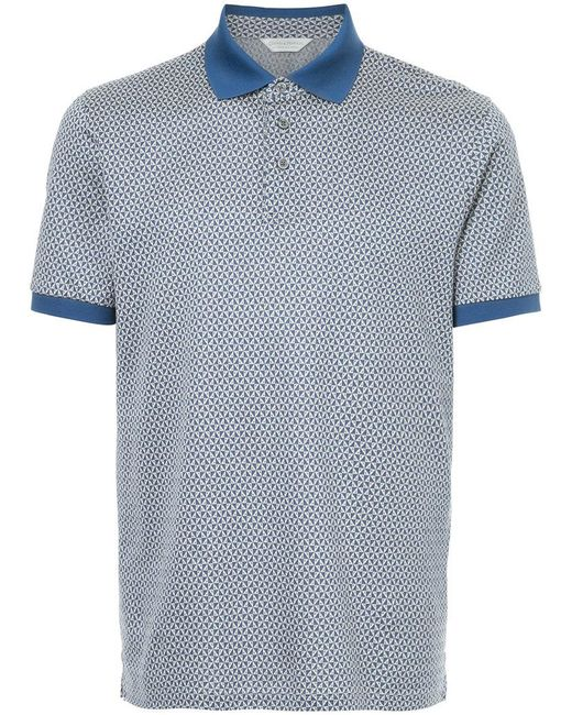 Gieves & Hawkes - Blue Printed Polo Shirt for Men - Lyst