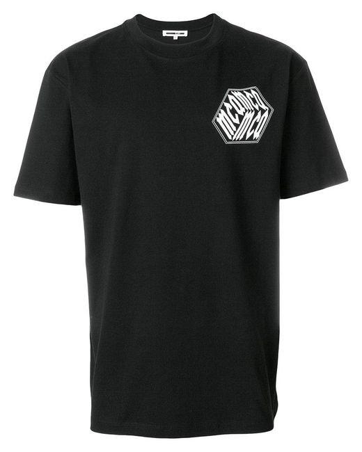 McQ Alexander McQueen - Black Graphic Patch T-shirt for Men - Lyst