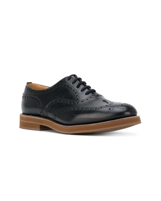 classic lace-up Oxford shoes - Blue Churchs K5t5xwlc5