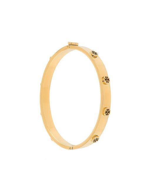 Tory Burch   Metallic Logo Stud Hinge Bracelet   Lyst
