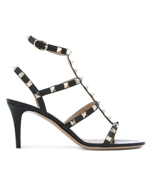 976f93ef9ba Lyst - Valentino Garavani Rockstud Sandals in Black - Save 6%