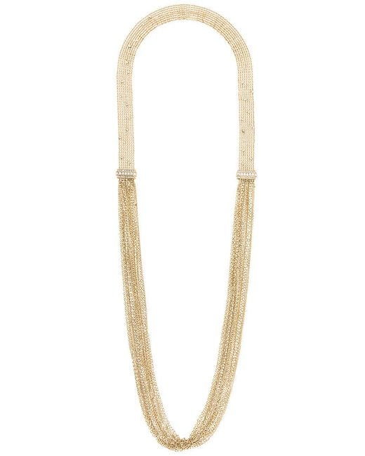 Lanvin | Metallic Long Chain And Fringe Necklace | Lyst