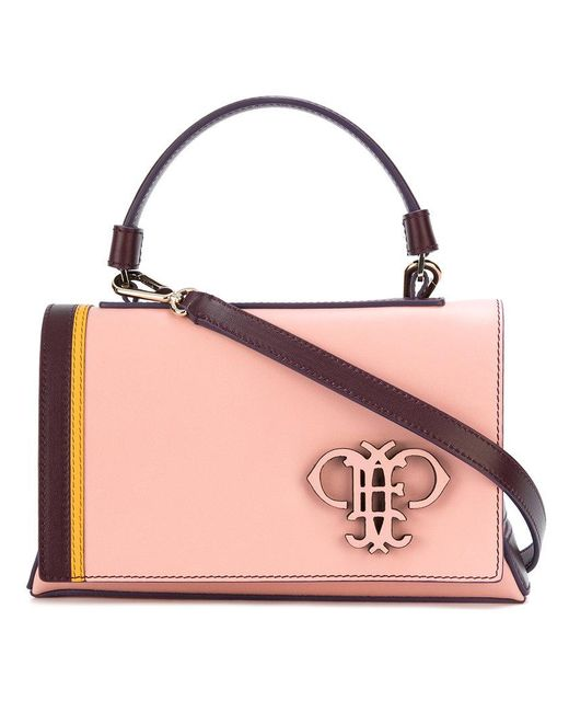 Emilio Pucci - Pink Logo Embossed Shoulder Bag - Lyst