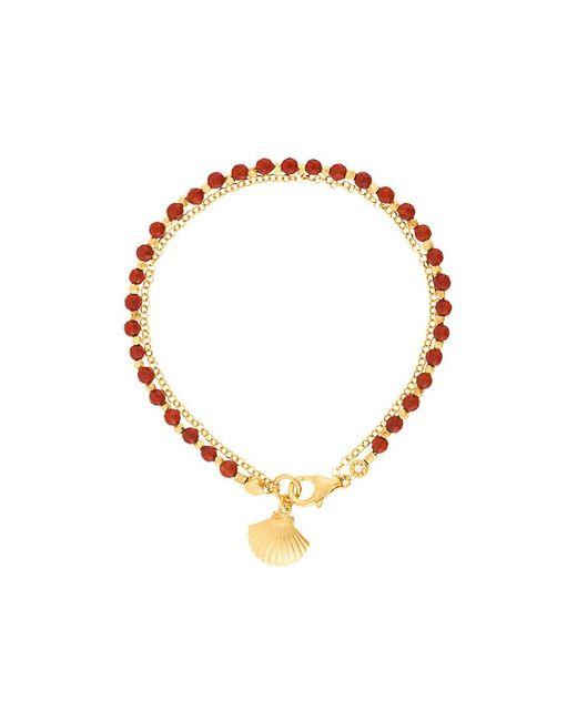 Astley Clarke | Red Agate Shell Biography Bracelet | Lyst