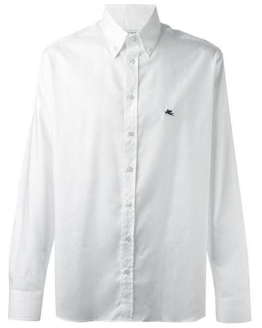 Etro - White Button Down Shirt for Men - Lyst