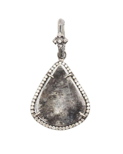 Loree Rodkin   Metallic Small Tear Drop Sliced Diamond Pendant   Lyst