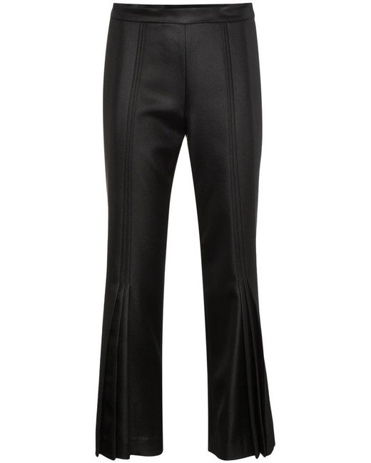 Marco De Vincenzo - Black Cropped Flared Mid Rise Pants - Lyst