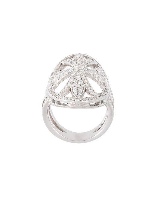 Loree Rodkin   Metallic Oval Gothic Cigar Bank Diamond Ring   Lyst