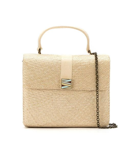 Serpui - Natural Straw 'riabun' Bag - Lyst