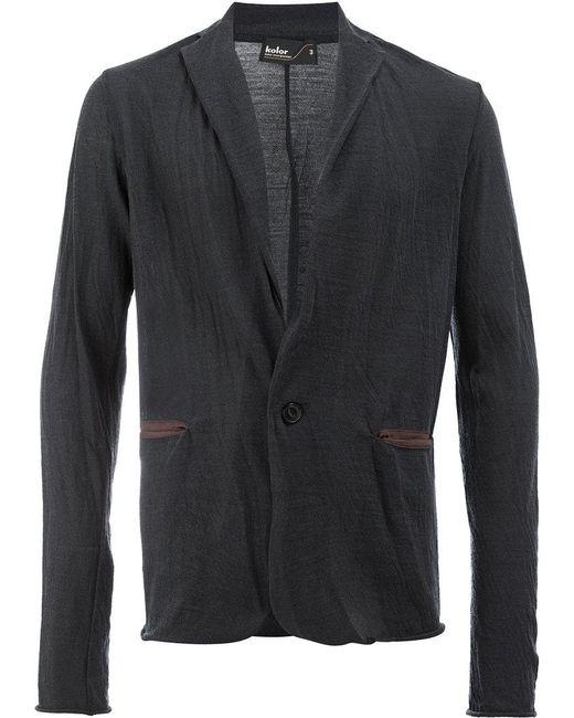 Kolor | Blue Contrast Pocket Detail Blazer for Men | Lyst