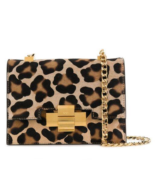 N°21 - Multicolor Leopard Print Shoulder Bag - Lyst