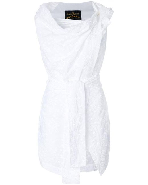 Vivienne Westwood Anglomania - White Cowl Neck Sleeveless Top - Lyst