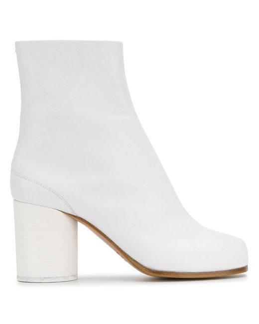 Maison Margiela - White 'tabi' Ankle Boots - Lyst