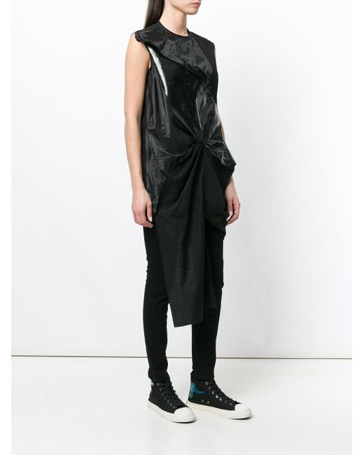 69e02196f934e Lyst - Rick owens drkshdw Draped Sculptural Top in Black