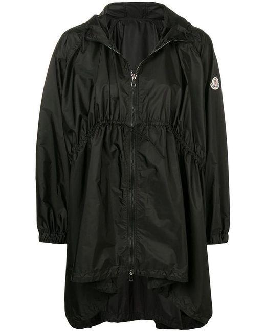Moncler - Black Manteau oversize à capuche - Lyst