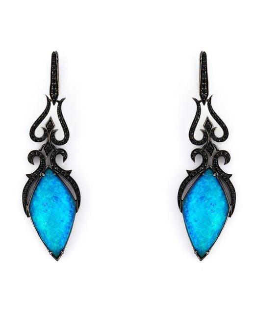Stephen Webster - Black 'crystal Haze' Diamond Long Earrings - Lyst
