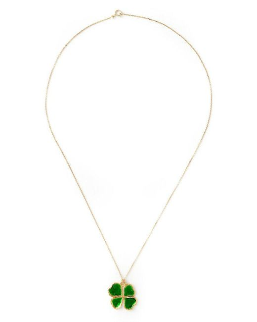 Aurelie Bidermann - Yellow Mini 'clover' Necklace - Lyst