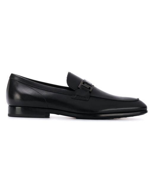 ae20d55935f Tod s - Black Logo Buckle Loafers for Men - Lyst ...
