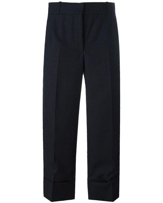 Thom Browne - Blue Wide Leg Cropped Pants - Lyst