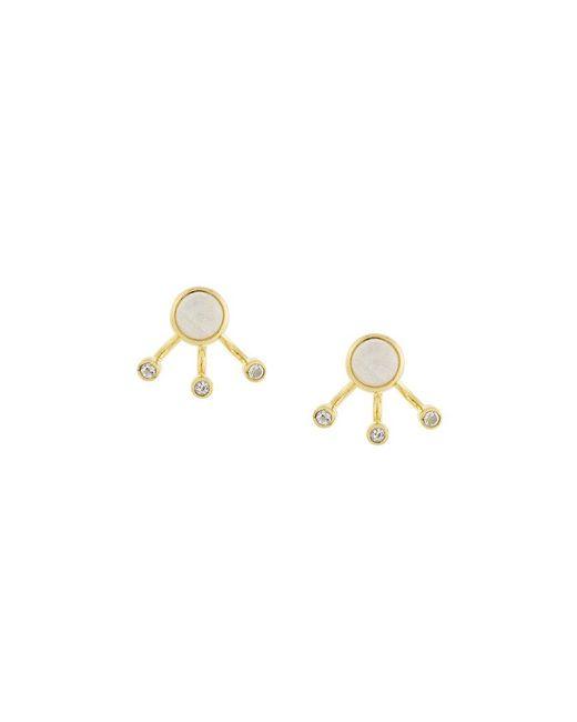 Pamela Love - Metallic Three Gravitation Moonstone And White Topaz Earrings - Lyst