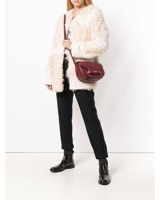 46bbf64a6391a6 ... MICHAEL Michael Kors - Red Cary Medium Saddle Bag - Lyst ...