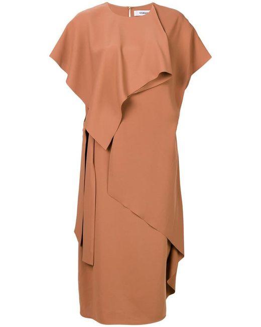 Chalayan - Brown Slash Draped Dress - Lyst