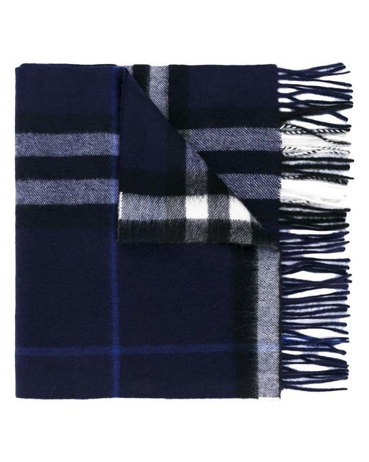 Burberry - Blue The Classic Check Cashmere Scarf for Men - Lyst