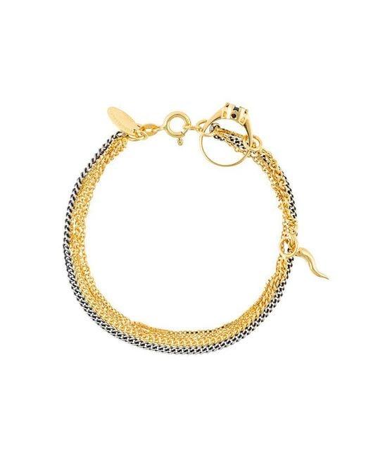 Iosselliani - Metallic 'silver Heritage' Ring Bracelet - Lyst