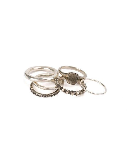 Werkstatt:münchen - Metallic 'eternity' 6 Rings Combination for Men - Lyst