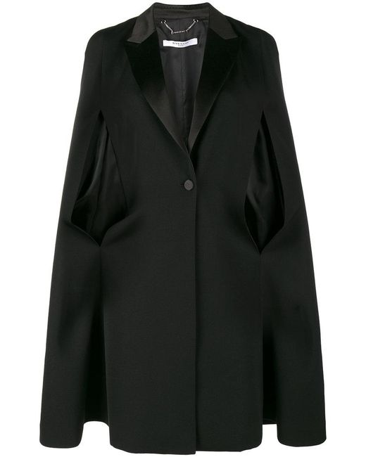 Givenchy | Black Cape Detail Blazer | Lyst