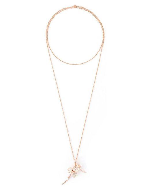 Shaun Leane - Metallic 'cherry Blossom' Long Pendant Necklace - Lyst