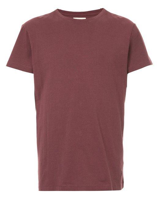 Kent & Curwen - Red Logo Detail T-shirt for Men - Lyst