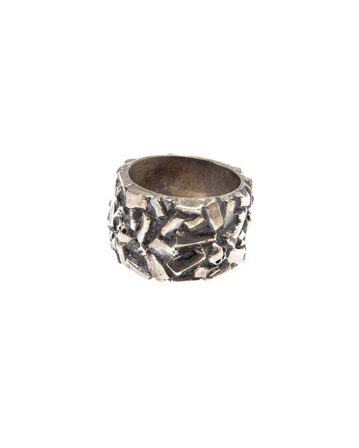 Tobias Wistisen | Metallic 'chaotic' Ring for Men | Lyst