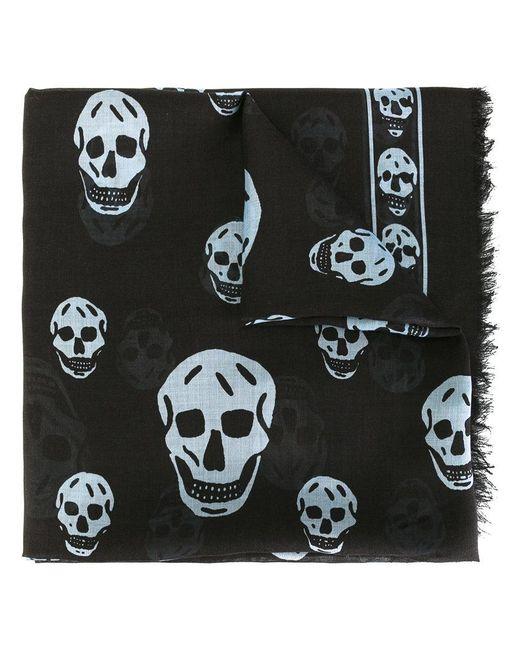 Alexander McQueen | Black Skull Scarf for Men | Lyst