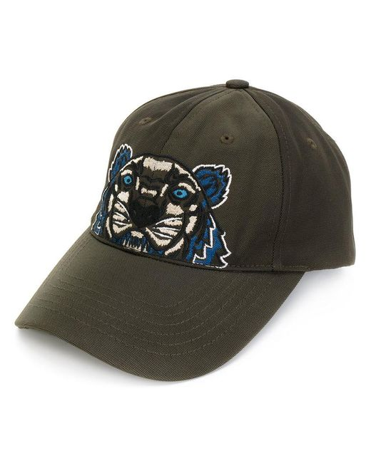 KENZO   Green Tiger Embroidered Cap for Men   Lyst