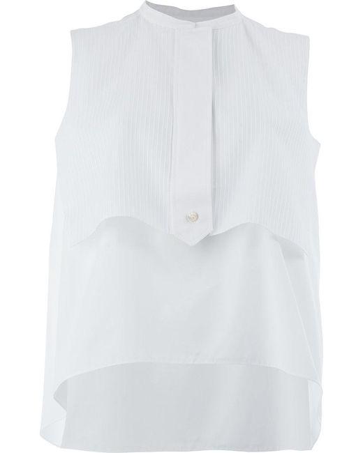 Maison Rabih Kayrouz - White Sleeveless Layered Blouse - Lyst