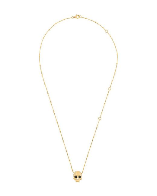 Kasun - Metallic Vampire Skull Pendant Necklace for Men - Lyst