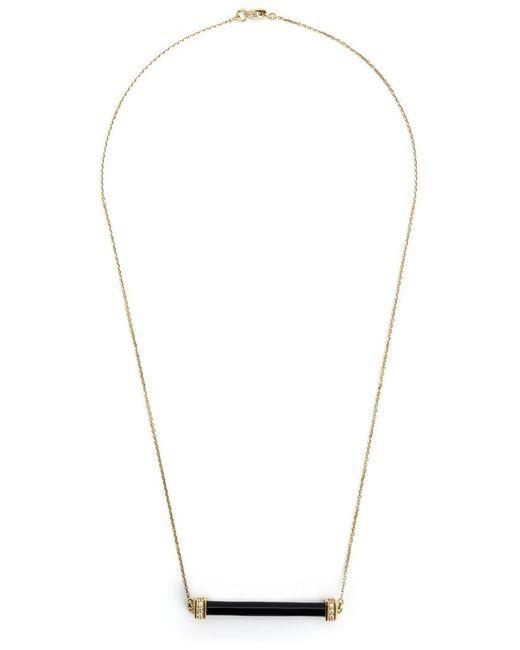 Kristin Hanson - Black Onyx And Diamond Bar Necklace - Lyst