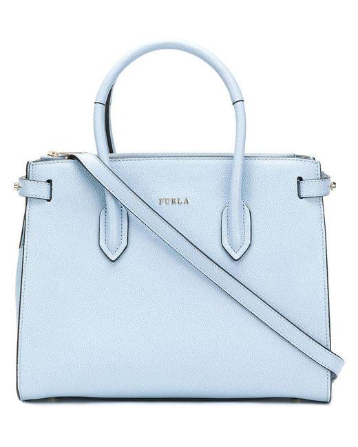 Furla - Blue Pin Tote Bag - Lyst