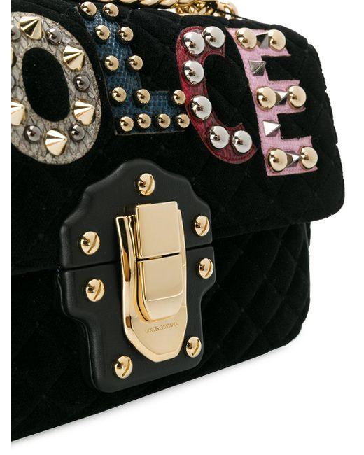 ... Dolce   Gabbana - Black Lucia Quilted Shoulder Bag - Lyst 94f07c2841903