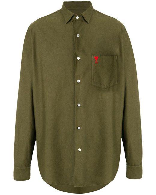 AMI - Green Ami De Coeur Summer Fit Shirt for Men - Lyst