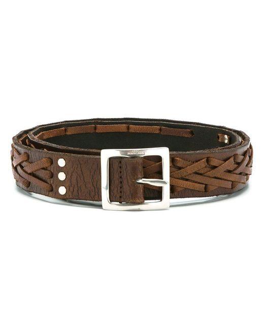 Saint Laurent | Brown Braided Belt for Men | Lyst