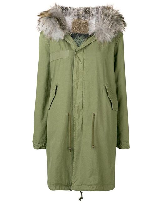 Mr & Mrs Italy - Green Trimmed Hooded Parka - Lyst