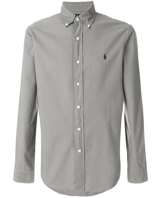 Ralph Lauren - Gray Button Down Shirt for Men - Lyst