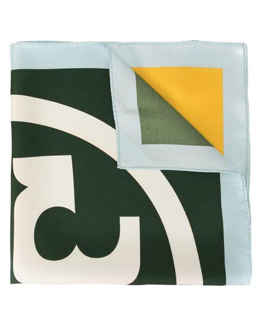 Tory Burch Green Colour Block Scarf