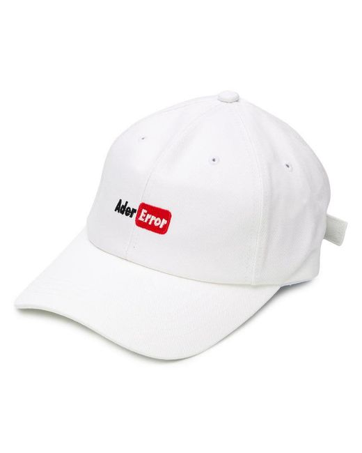 ADER ERROR - White Youtubetm-style Embroidered Logo Cap - Lyst