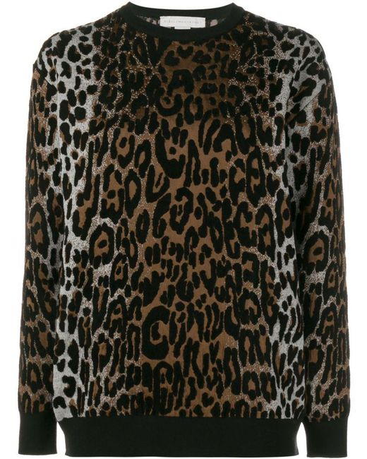 Stella McCartney - Brown Cheetah Jacquard Jumper - Lyst
